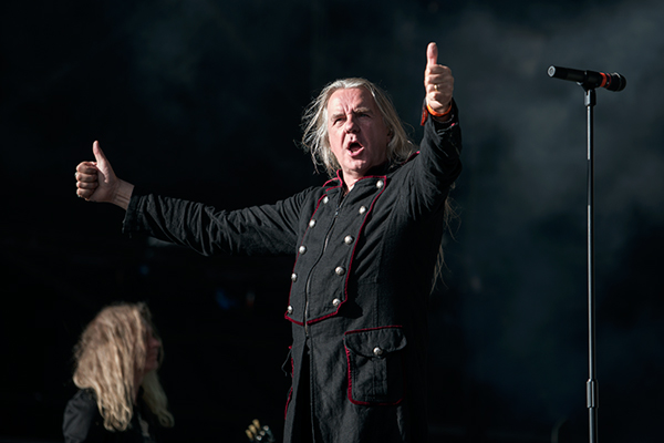 Saxon's Biff Byford on stage at Bloodstock Open Air Festival 2014