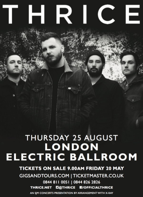 Thrice London Electric Ballroom August 2016 Show Poster