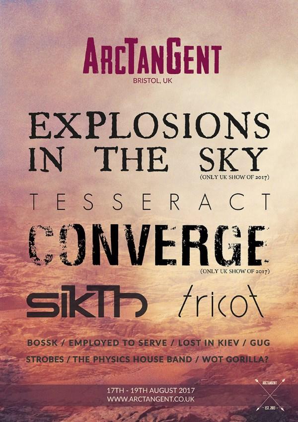 ArcTanGent Festival 2017 Second Line Up Poster
