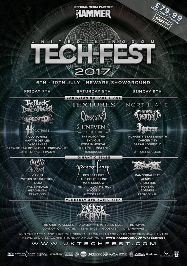 UK Tech-Fest 2017 Final Line Up Poster