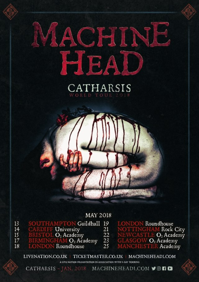 Machine Head UK tour poster May 2018