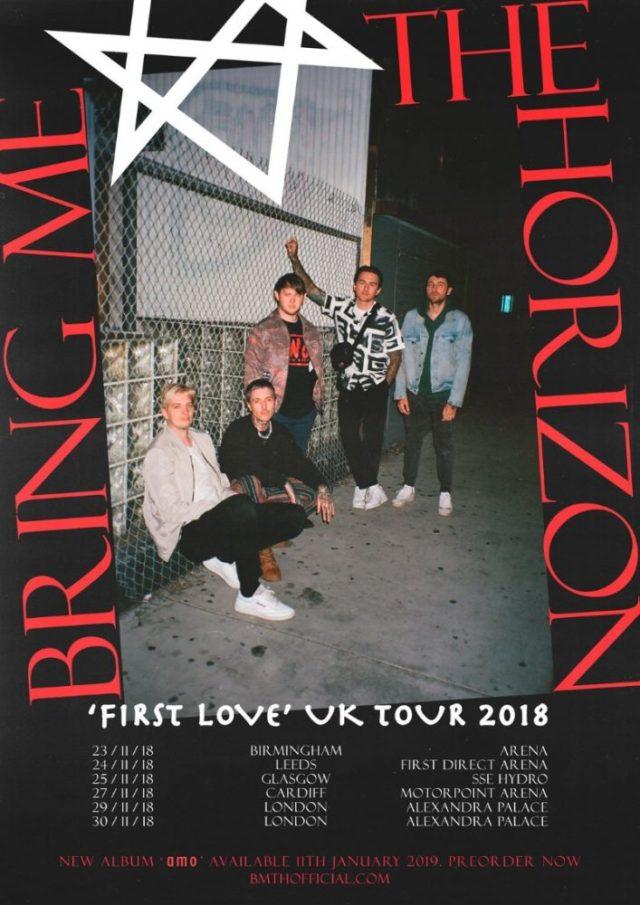 Bring Me The Horizon November 2018 UK Tour Poster