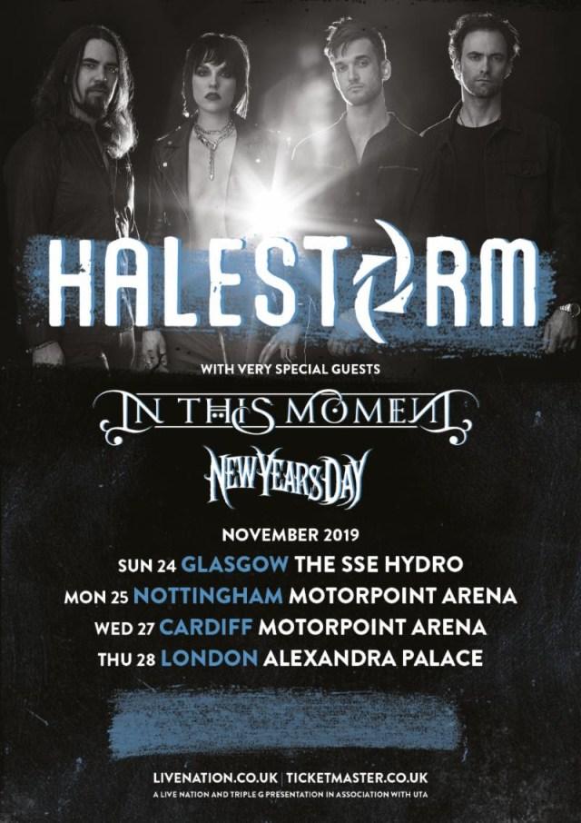 Halestorm November 2019 UK Arena Tour
