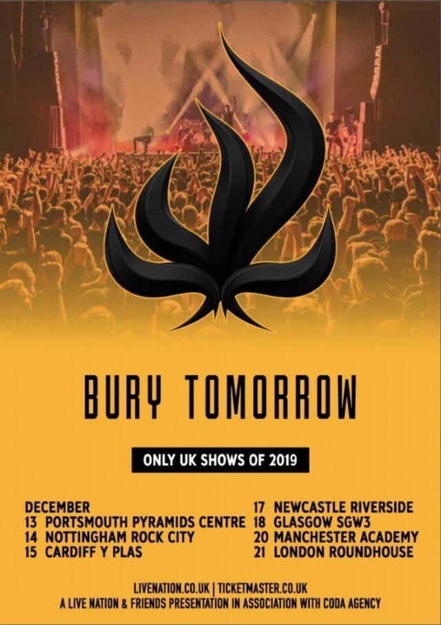 Bury Tomorrow December 2019 UK Headline Tour Poster