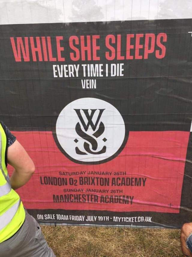 While She Sleeps ETID Vein Shows Poster 2000 Trees