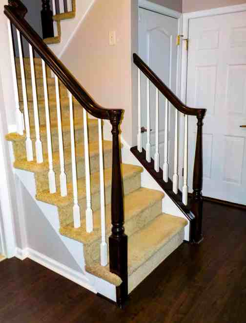 how to update an orange staircase