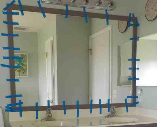 diy frame for builder grade mirror