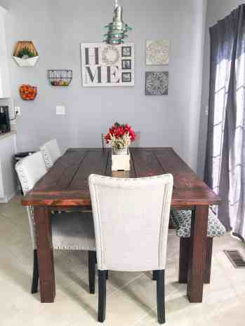 how to make a kitchen table