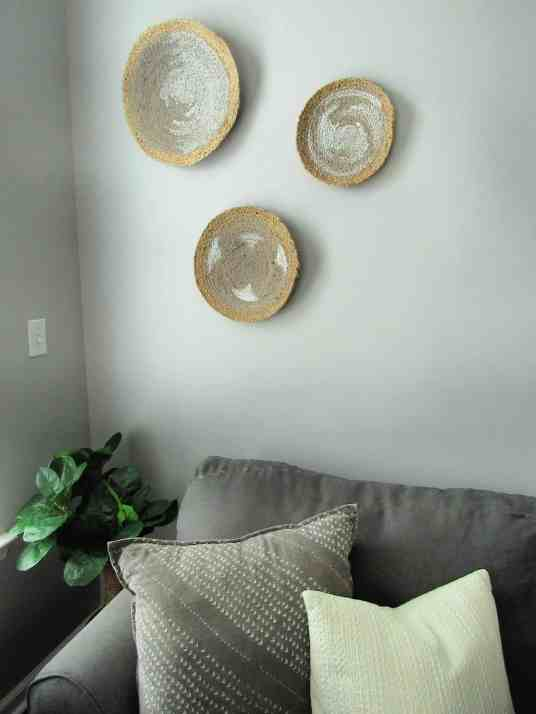diy basket wall art made from jute chargers