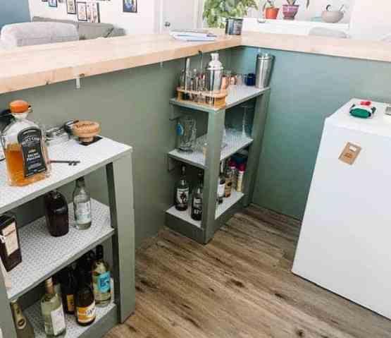diy bar, home bar shelves, bar design plans