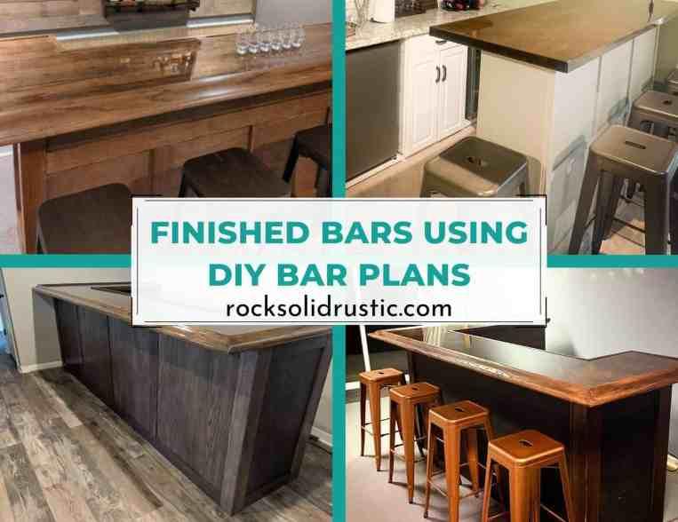 diy bar plans