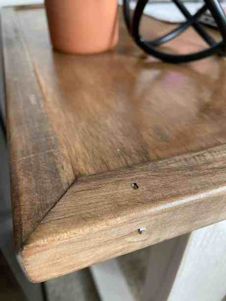 diy desk plans to make a rustic desk for a scrap wood project