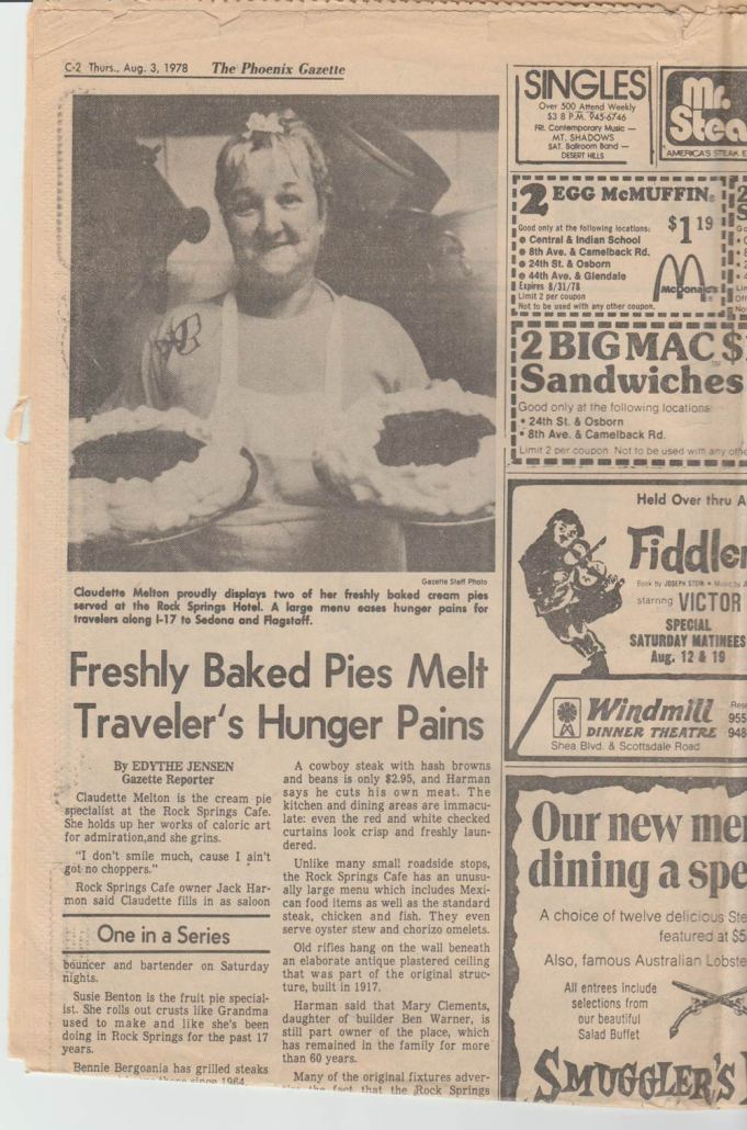 rock springs cafe - 1978 article