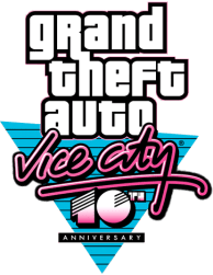 Logo GTA Vice City 10th Anniversary