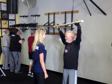 Anne training with boxer