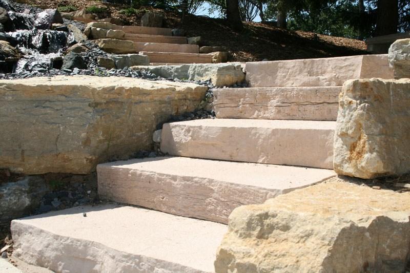 Rocksteps Lightweight Stone Steps Stairs Landscape | Granite Stone Steps Outdoor
