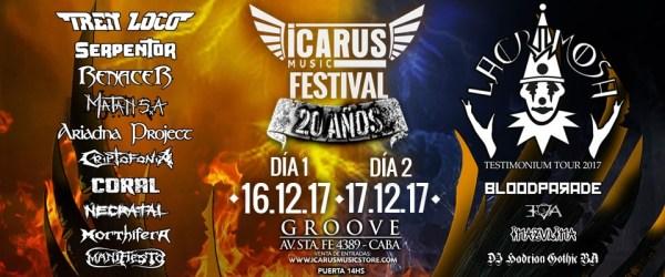 ICARUS MUSIC FESTIVAL DÍA 1: TREN LOCO, SERPENTOR Y MÁS @ Groove | Buenos Aires | Argentina