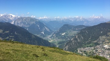 Verbier mit Blick ins Val de Bâgnes