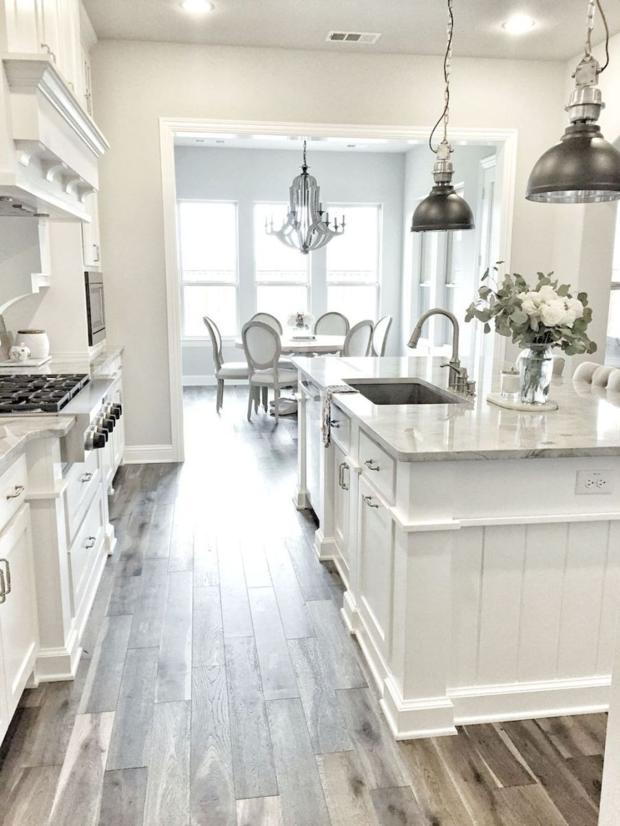 White Kitchen Grey Wood Floor   Novocom.top