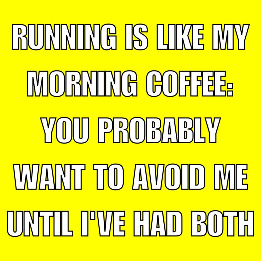 running coffee