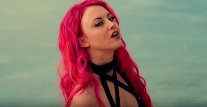 Kaleido vocalist Christina Chriss in Official Music Video 'Trouble in Paradise'