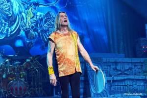 Iron Maiden drummer Nicko McBrain - Photo by Tom Collins
