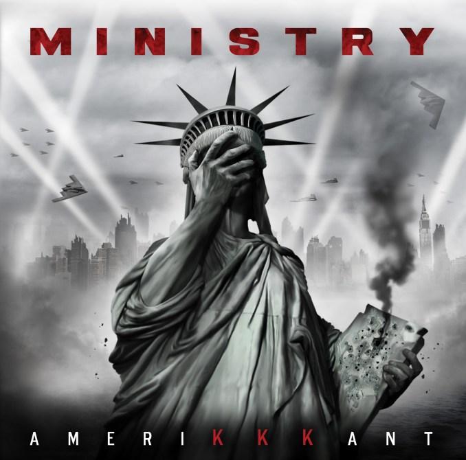 Ministry album cover for AMERIKKKANT