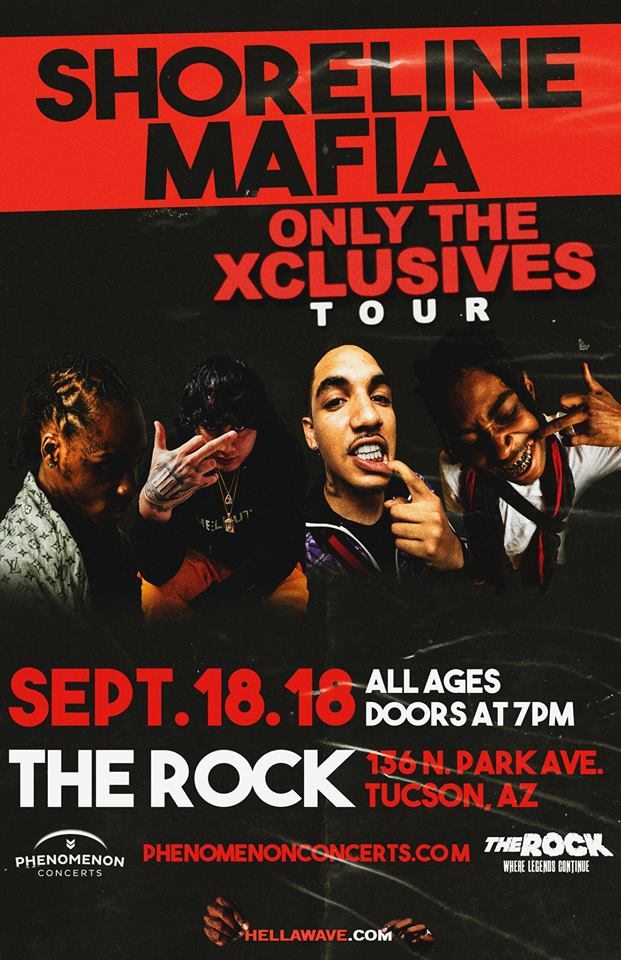 Shoreline Mafia - ONLY THE XCLUSIVES TOUR at The Rock