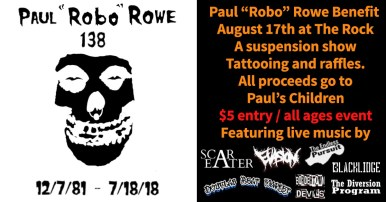 "We are 138 a Paul ""Robo"" Rowe Benefit at the Rock!"