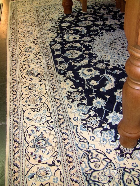 Large Persian Tabriz Area Rug Of Cobalt Blue And White