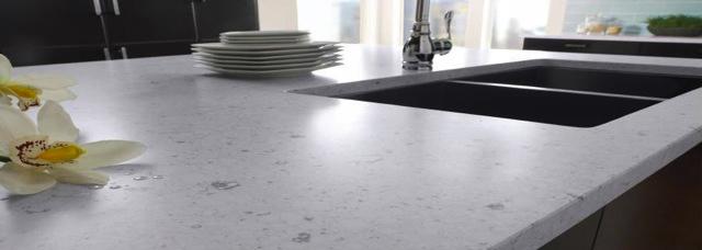 Light Grey Quartz Island Rockwell Countertops