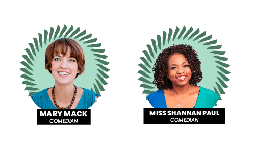 Mary Mack and Miss Shannan Paul at the Pay Gap Festival 2021
