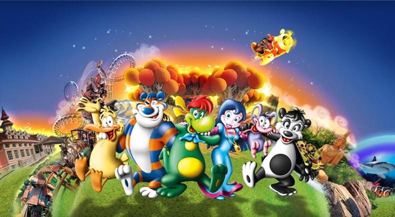 Parkmascotte Prezemolo en zijn vriendjes in Gardaland