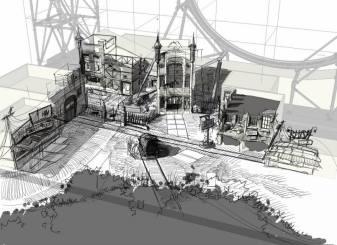 Concepttekening van het pleintje