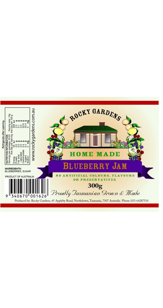 Blueberry Jam Nutritional Information