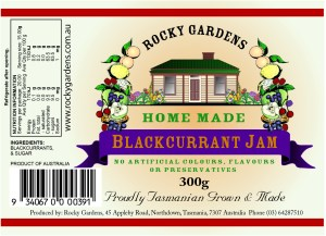 Blackcurrant Jam Nutritional Information