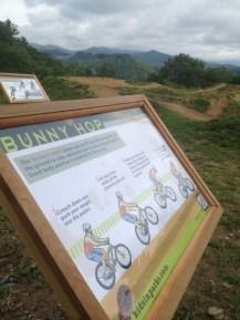 Pump track sign