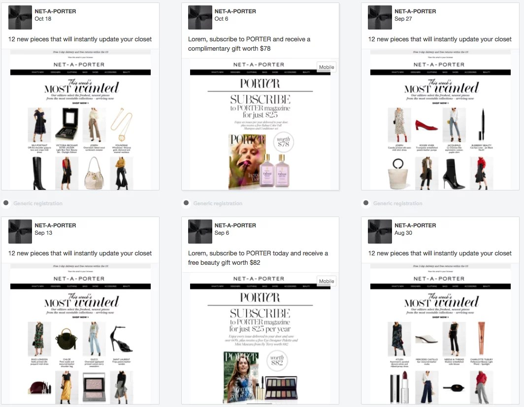 Le Meilleur Net A Porter's Purchase Email Unboxing Experience Ce Mois Ci