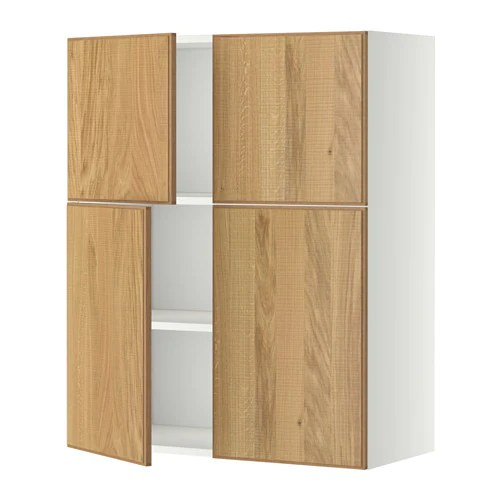Le Meilleur Metod Wall Cabinet With Shelves 4 Doors White Hyttan Ce Mois Ci