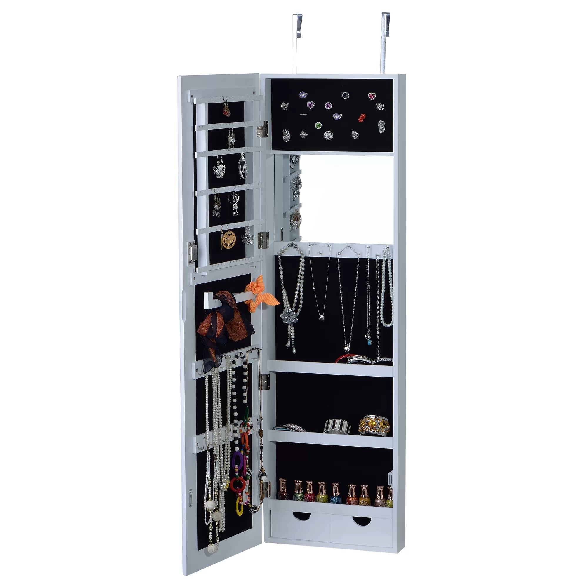 Le Meilleur Innerspace Luxury Products Over The Door Jewelry Armoire Ce Mois Ci