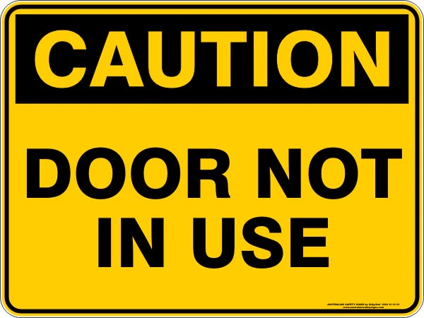 Le Meilleur Door Not In Use – Australian Safety Signs Ce Mois Ci