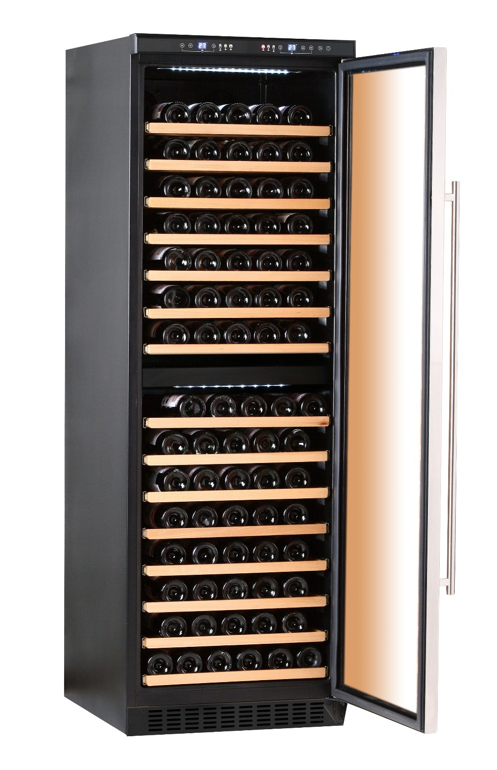 Le Meilleur Tempered Smoked Double Pane Glass Door 155 Bottles Tall Ce Mois Ci
