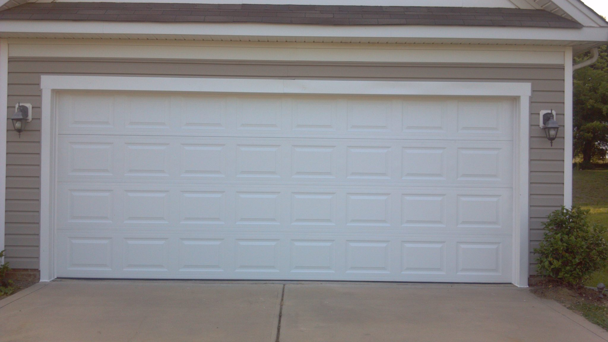 Le Meilleur Two Single Garage Doors Made Into One Garage Door After Ce Mois Ci