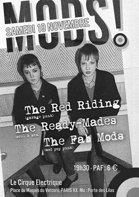 Le Meilleur The Fab Mods The Ready Mades The Red Riding Le 19 Ce Mois Ci