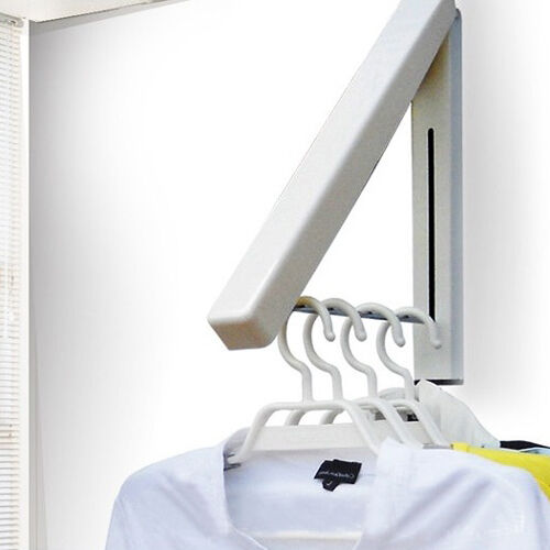 Le Meilleur Stainless Folding Wall Hanger Retractable Clothes Indoor Ce Mois Ci