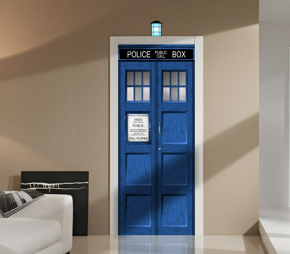 Le Meilleur Doctor Who Tardis Wall Or Door Decal Sticker Graphic Dr Ce Mois Ci