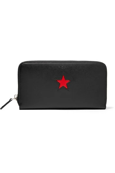 Le Meilleur Givenchy Continental Wallet In Black And Red Leather Ce Mois Ci