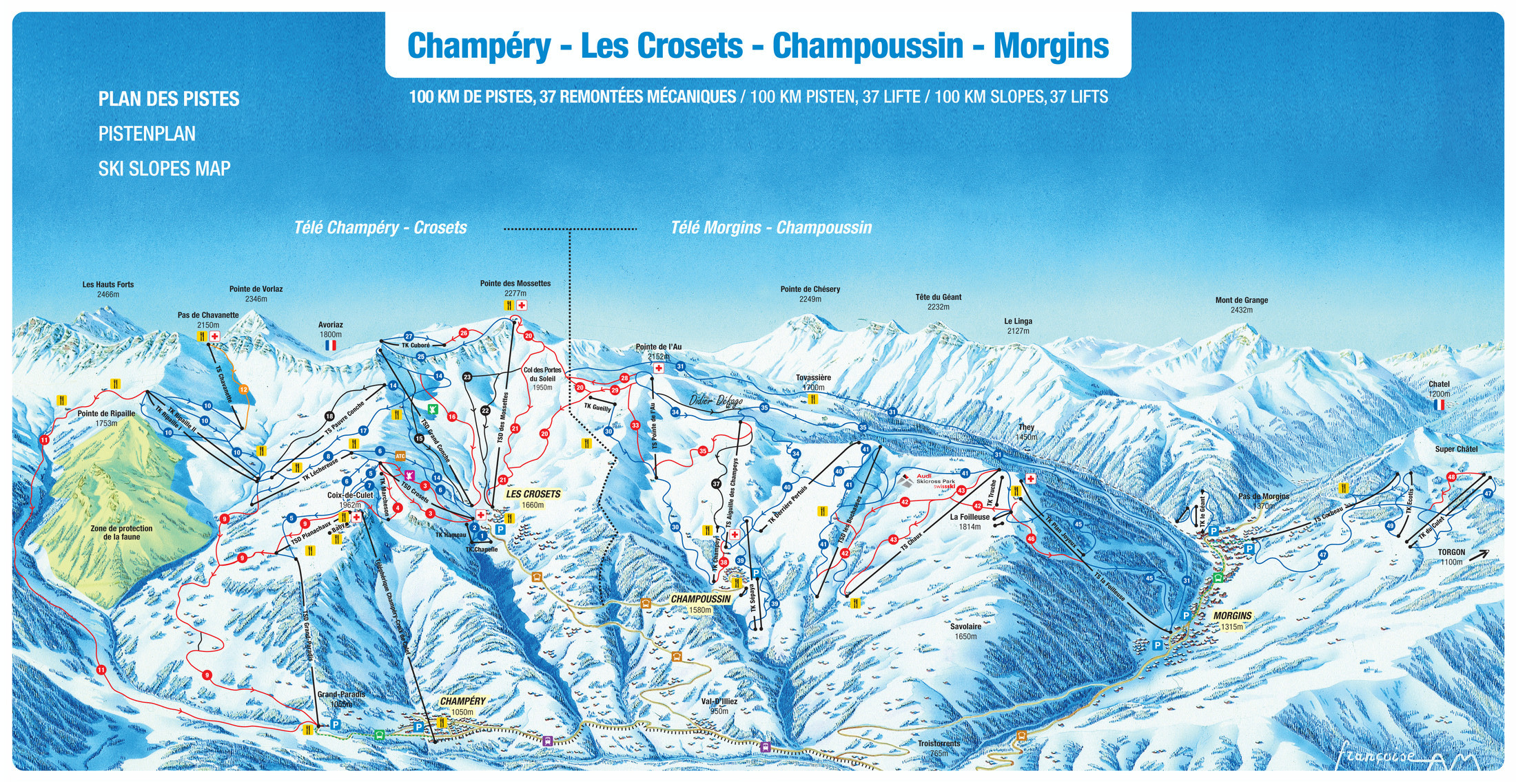 Le Meilleur Les Crosets Piste Map Plan Of Ski Slopes And Lifts Ce Mois Ci