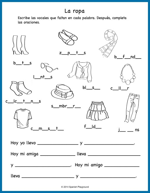 Le Meilleur Spanish Clothing Songs For Kids Spanish Playground Ce Mois Ci