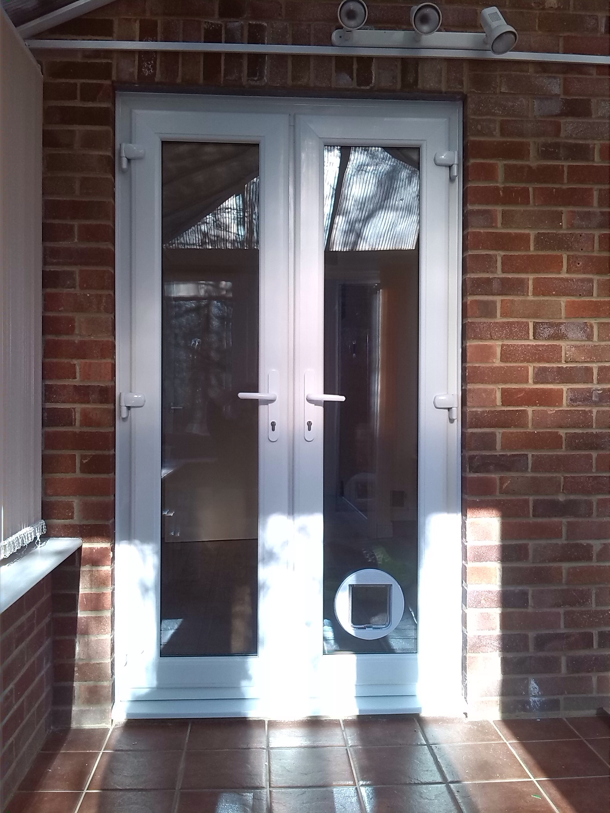 Le Meilleur New Upvc French Doors And A Cat Flap Installed Window Ce Mois Ci